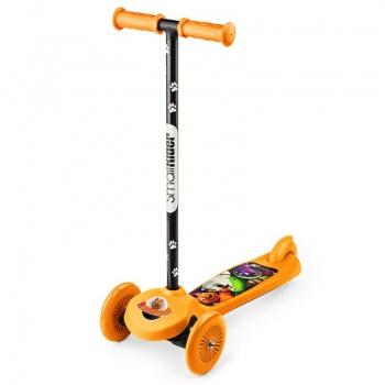Самокат трехколесный Small Rider Scooter Cosmic Zoo оранжевый