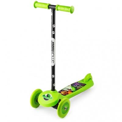 Самокат трехколесный Small Rider Scooter Cosmic Zoo зеленый