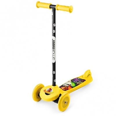 Самокат трехколесный Small Rider Scooter Cosmic Zoo желтый