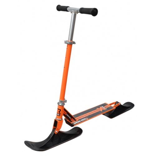Зимний самокат на лыжах Stiga Bike Snow Kick Cross оранжевый