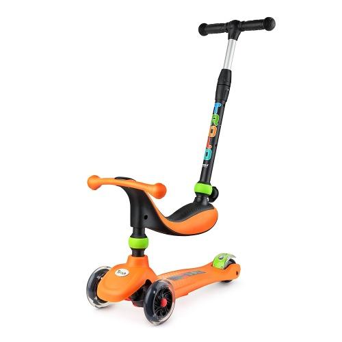 Самокат Trolo Rino 2017 3 в 1 со светящимися колесами оранжевый