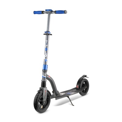 Самокат Trolo LUX Quantum Air синий графит с надувными колесами складной