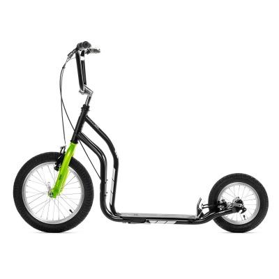 Самокат Yedoo City Premium NEW черно-зеленый