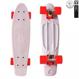 "Мини-круизер Y-Scoo Fish Skateboard 22"" с сумкой серый"
