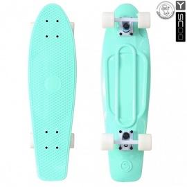 "Мини-круизер Y-Scoo Fish Skateboard 27"" с сумкой бело-голубой"