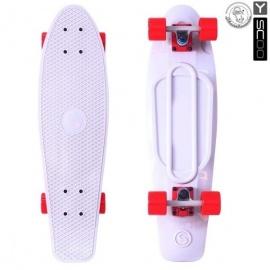 "Мини-круизер Y-Scoo Fish Skateboard 27"" с сумкой белый"