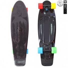"Мини-круизер Y-Scoo Fish Skateboard 27"" с сумкой черный"