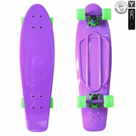 "Мини-круизер Y-Scoo Fish Skateboard 27"" с сумкой фиолетовый"