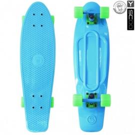 "Мини-круизер Y-Scoo Fish Skateboard 27"" с сумкой голубой"