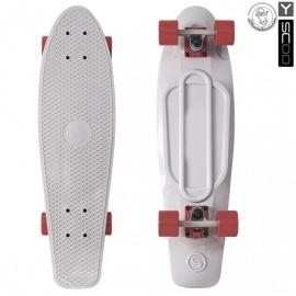 "Мини-круизер Y-Scoo Fish Skateboard 27"" с сумкой серый"