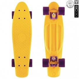 "Мини-круизер Y-Scoo Fish Skateboard 27"" с сумкой желтый"