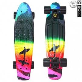 """Мини-круизер Y-Scoo Fish Skateboard Print 22"""" с сумкой Offshore"""