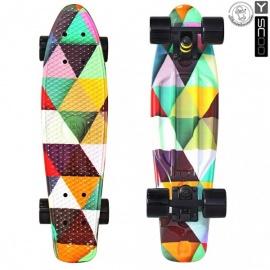 """Мини-круизер Y-Scoo Fish Skateboard Print 22"""" с сумкой Triddent"""