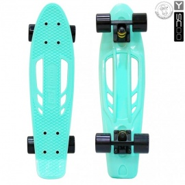 "Мини-круизер Y-Scoo Fish Skateboard Fishbone 22"" с сумкой аква"